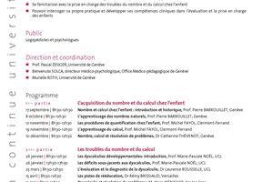 Formation Logopédie - Dyscalculie développementale - Inscription avant le 23 août 2010