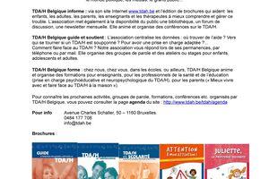 TDA/H be - Une présence, des actions, des publications