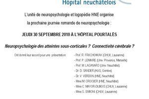 Journée romande de neuropsychologie - 30 septembre 2010