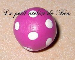 Fimo : réponse à comment faire une perle ronde à pois