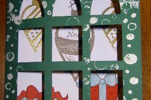 Une carte de Noël et une ATC pour Isabelle