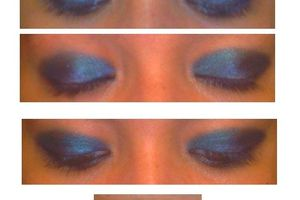 Make up : envie de bleu.