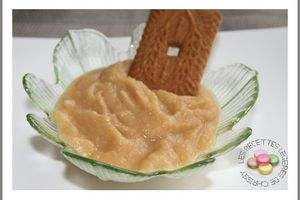 COMPOTE DE POMMES AU SPECULOOS thermomix ou non