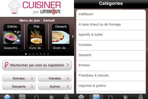 Test de l'application mobile Internaute cuisine.
