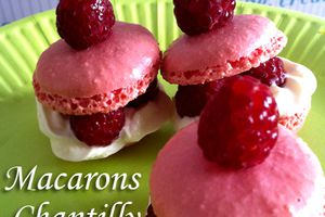 Macarons Chantilly-Framboises
