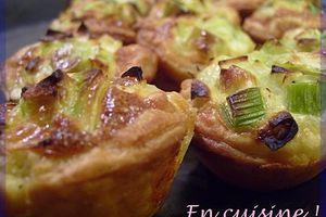 Tartelettes poireau & roquefort