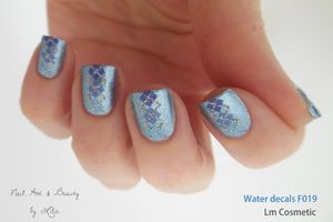 Nail Art - Water decals F019 // Lm Cosmetic