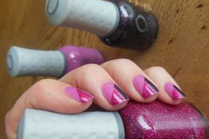 Nail Art - Tricolor // Stripping Tape
