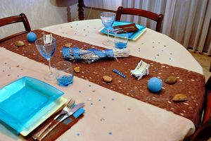 """""""Ma table bleu turquoise et cacao"""" (concours inside)"""