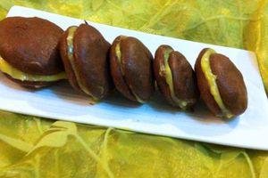 Whoopies chocolatés et fourrés au yuzu