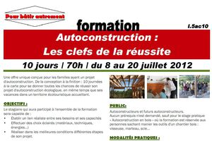 Formation à l'autoconstruction