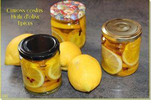 Citrons confits à l'huile et aux épices