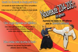 NOUVEAUTE ANTI-AGRESSION KARATE DEFENSE saison 2014-2015