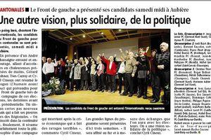 Le Front de Gauche présente ses candidat(e)s