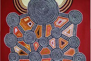 Peinture aborigène dans la revue L'Oeil