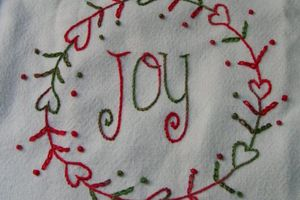 Broderie traditionnelle : Joy