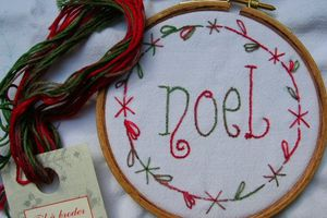 Broderie traditionnelle: Noël
