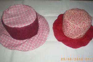 Pour les chapeaux.........