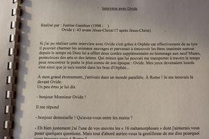 Les Métamorphoses d'Ovide par Justine G.