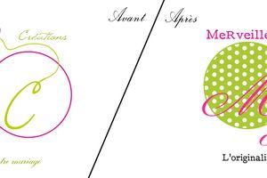 Carte de visite et refonte logo : Merveilles et Créations