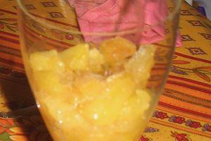 Chantilly au carambar sur confit de pommes