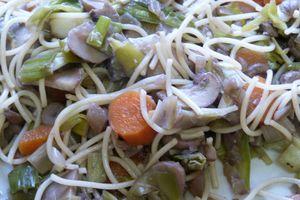 Pâtes aux légumes d'hiver pour les petits