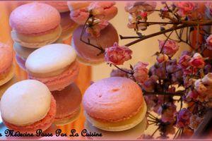 Macarons bicolores à la rose pour vous souhaiter une bonne Saint Valentin