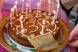Cheesecake chocolat-poivron rouge et piment d'Espelette