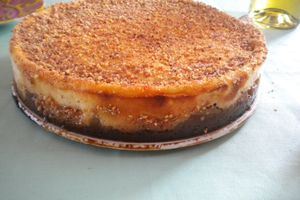 Cheesecake aux poires-speculoos