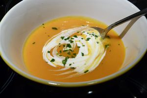Velouté de potimarron citronnelle et orange