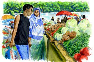 """Aquarelles """"Iles Comores"""""""