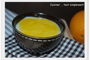 Crème de riz au Lait et à l'Orange
