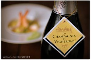 Champagne de Vignerons Millésimé dans ma cuisine ...