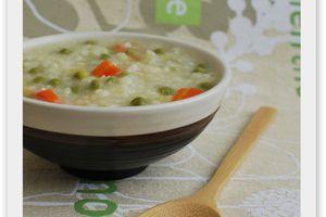 Soupe de légumes au riz