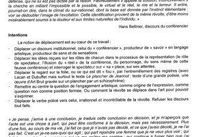 """A la B.U. de Metz Conférence-spectacle mise en scène par Perrine Maurin, de la compagnie """"Les patries imaginaires""""""""L'art est la question"""" (R.T.T.)"""