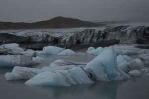 L'Islande bleue et glacée en juillet 2009 par Caroline