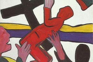 """""""L'orant"""" de Pierre LHOTE, artiste peintre messin."""