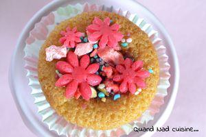 Cupcakes à la fraise et aux pralines