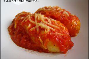 Quenelles à la semoule à la sauce tomate