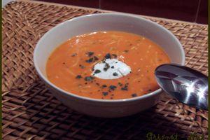 Soupe de tomates au basilic