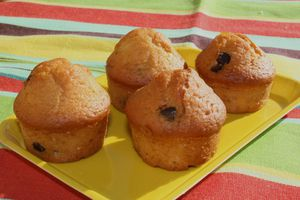 Muffins chocolat et orange confite