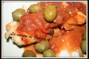 Cabillaud tomates et olives