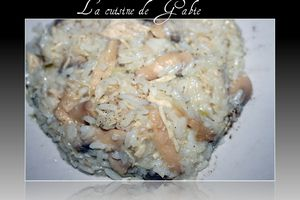 Risotto au poulet-poireaux et champignons (thermomix)