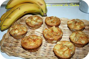Muffins pomme-banane-eau d'amande