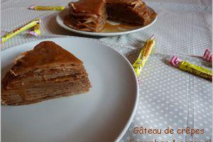 Mille-crêpes au Carambar & caramel (gâteau)