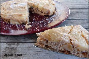 Upside-down pommes cannelle ou gâteau renversé façon tatin