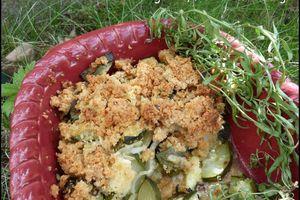 Crumble courgette, fenouil et estragon
