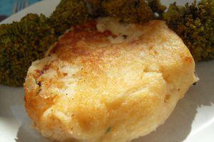 Galette de saumon et de pommes de terre