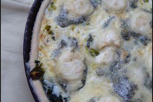 Quiche au poireau et au fromage de chèvre (bûchette de Sainte-Maure)