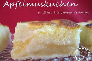 Apfelmuskuchen ou Gâteau à la Compote de Pomme